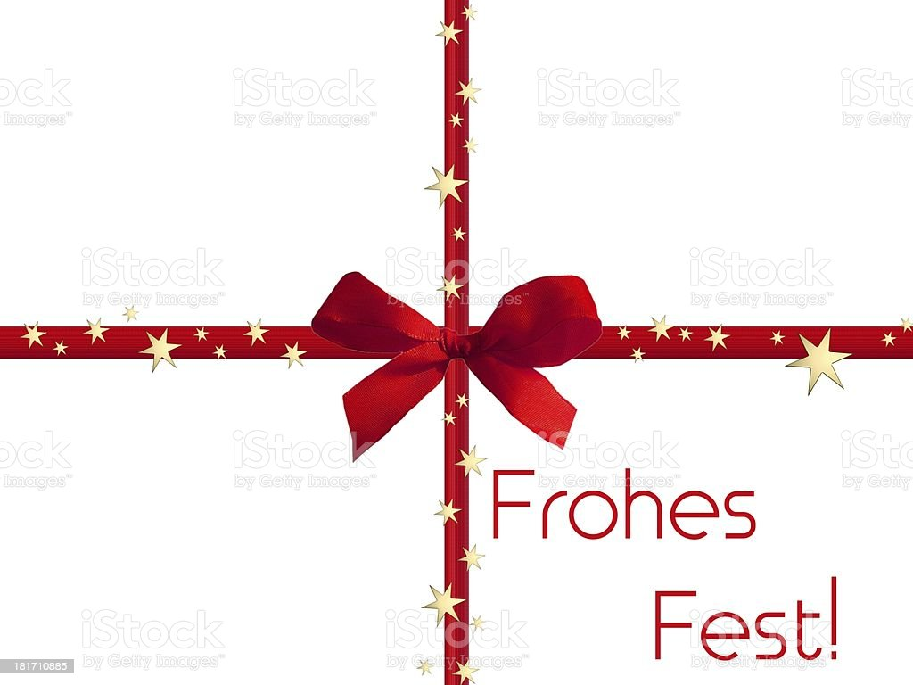 Frohes Fest - Merry Christmas in german royalty-free stock vector art