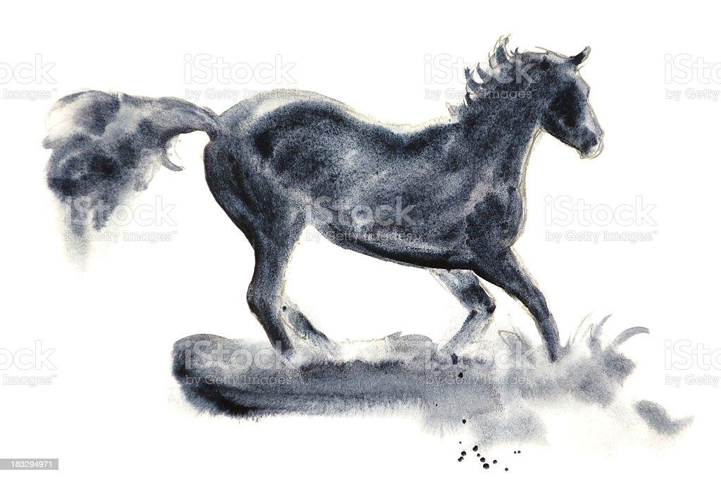 Frolicking Horse vector art illustration