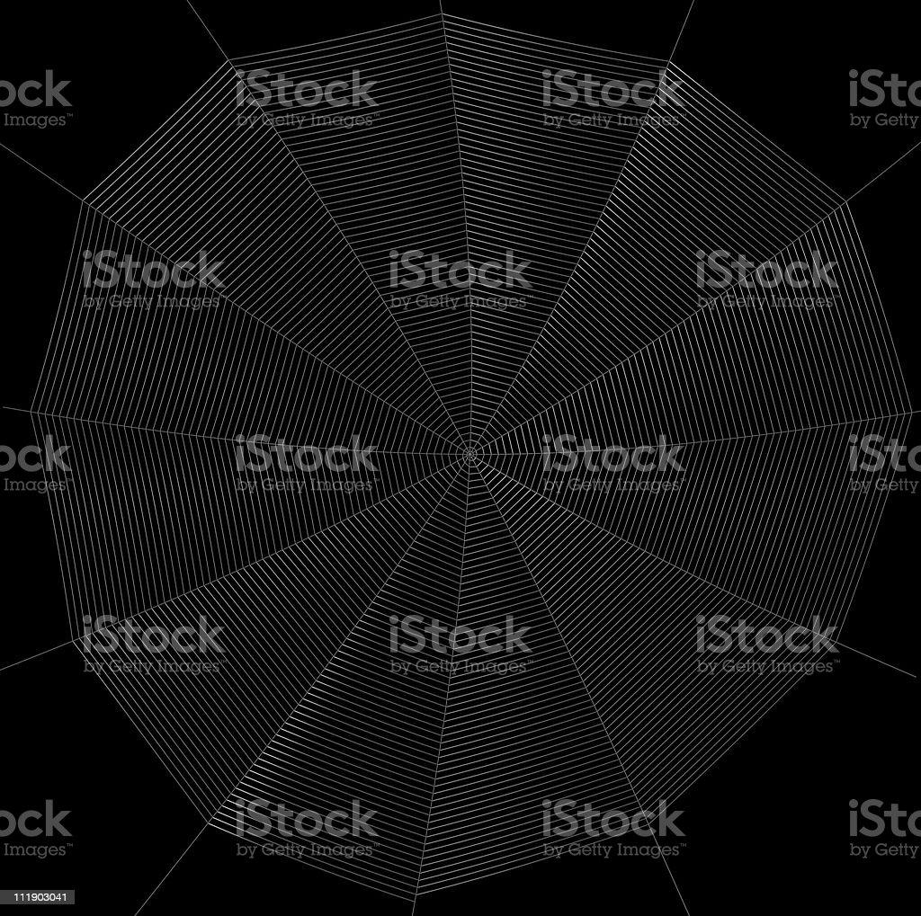 frontal spiderweb illustration royalty-free stock vector art