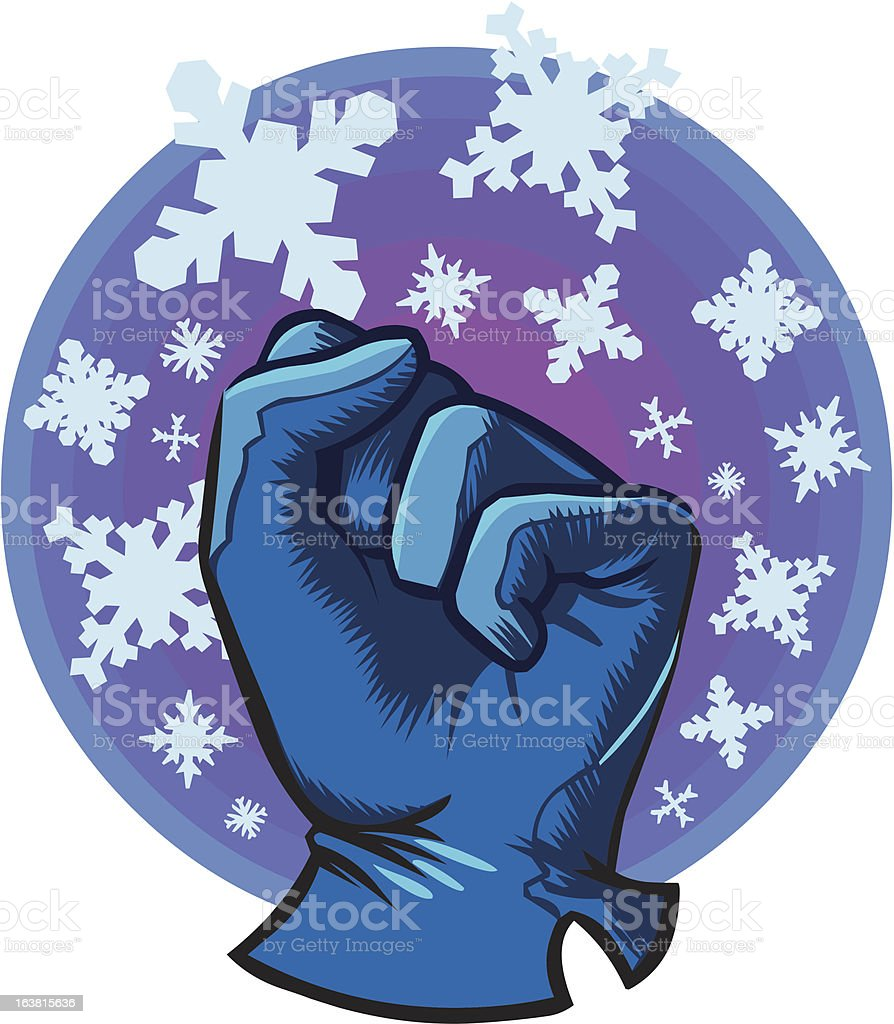 Frosty Fist royalty-free stock vector art