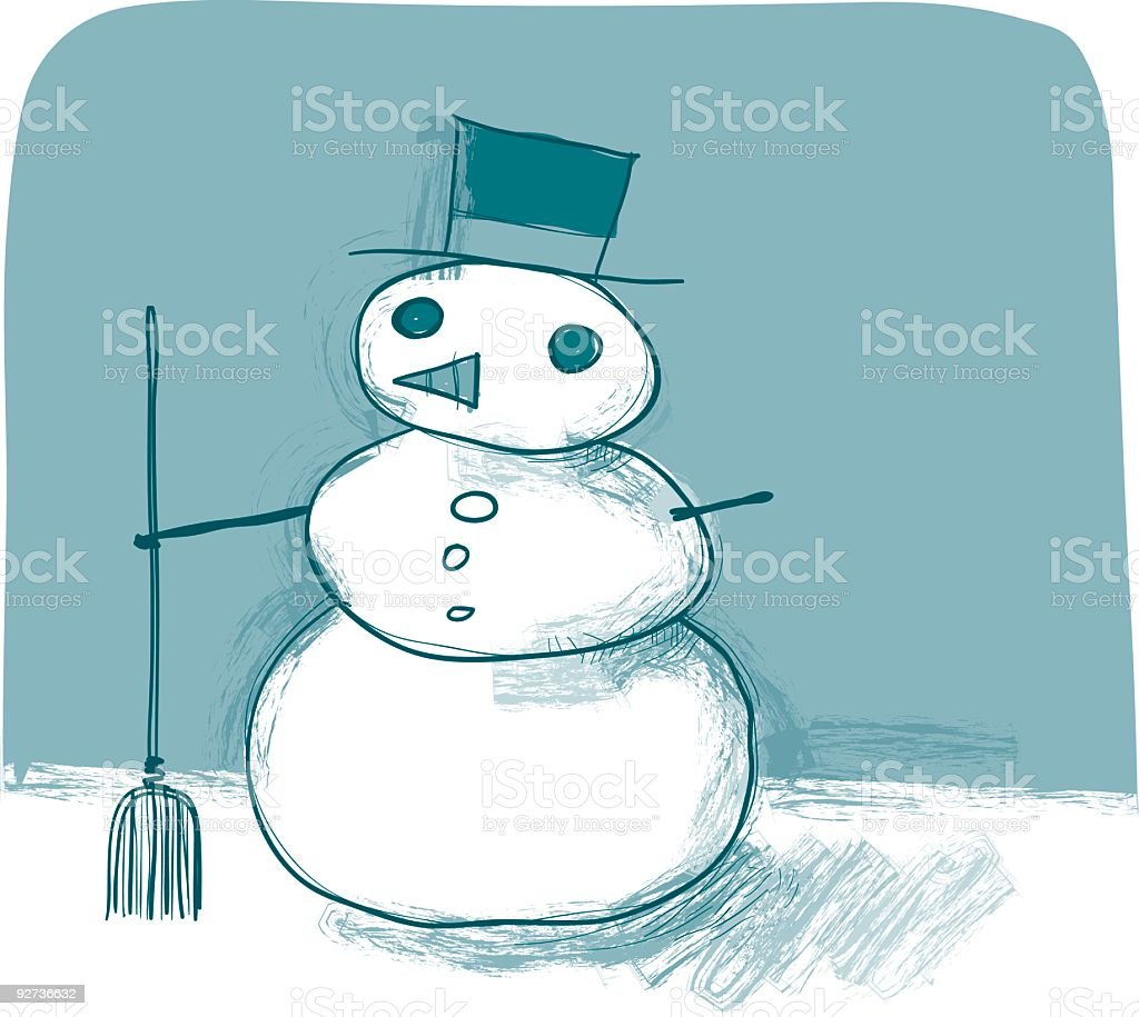 Frosty the Snowdude royalty-free stock vector art