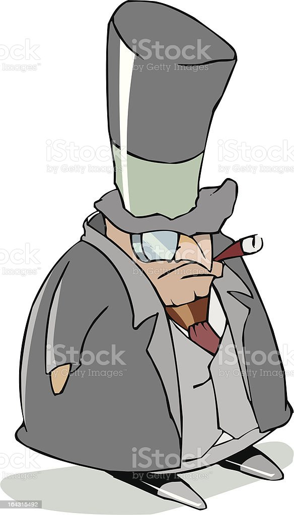 frown capitalist royalty-free stock vector art