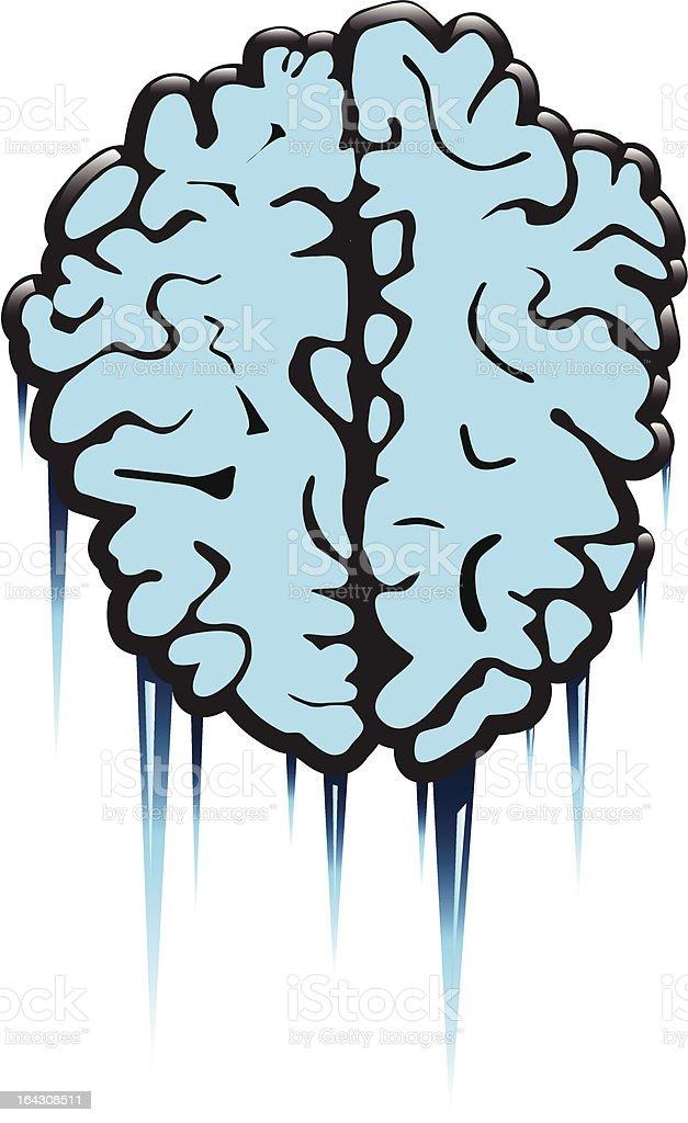Frozen Brain Scan royalty-free stock vector art