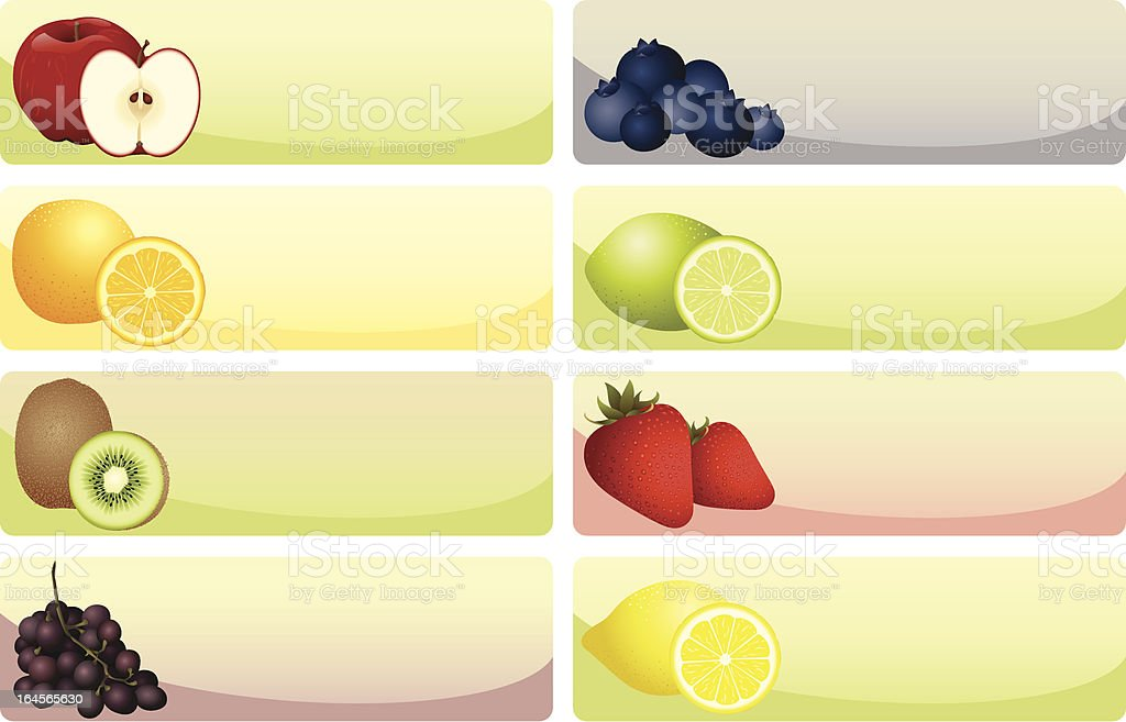Fruit Banners royalty-free stock vector art