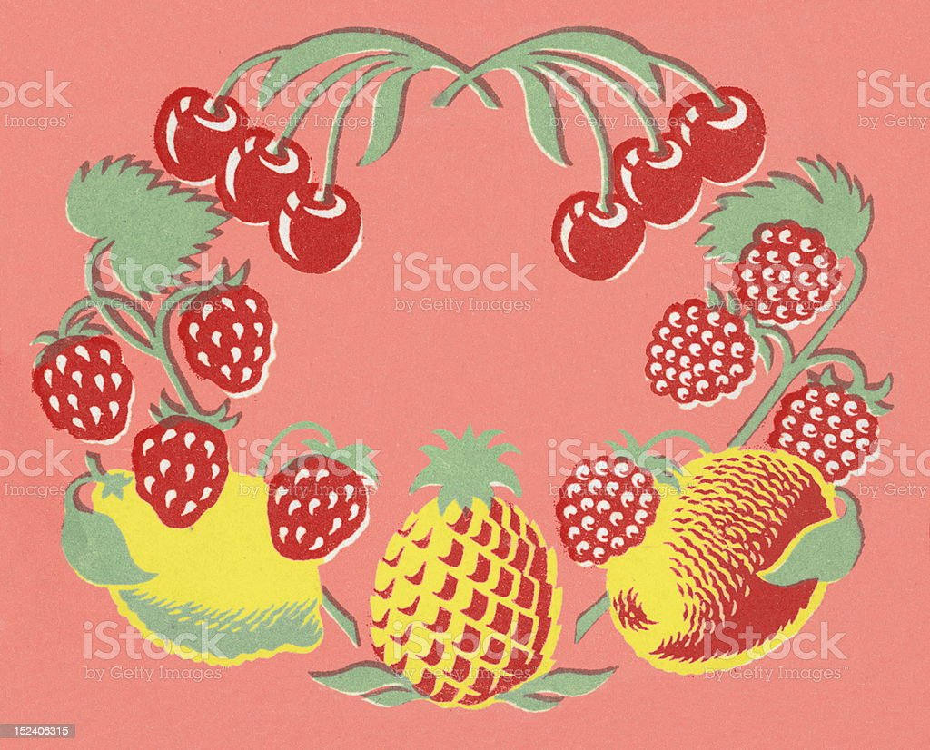 Fruit Border royalty-free stock vector art