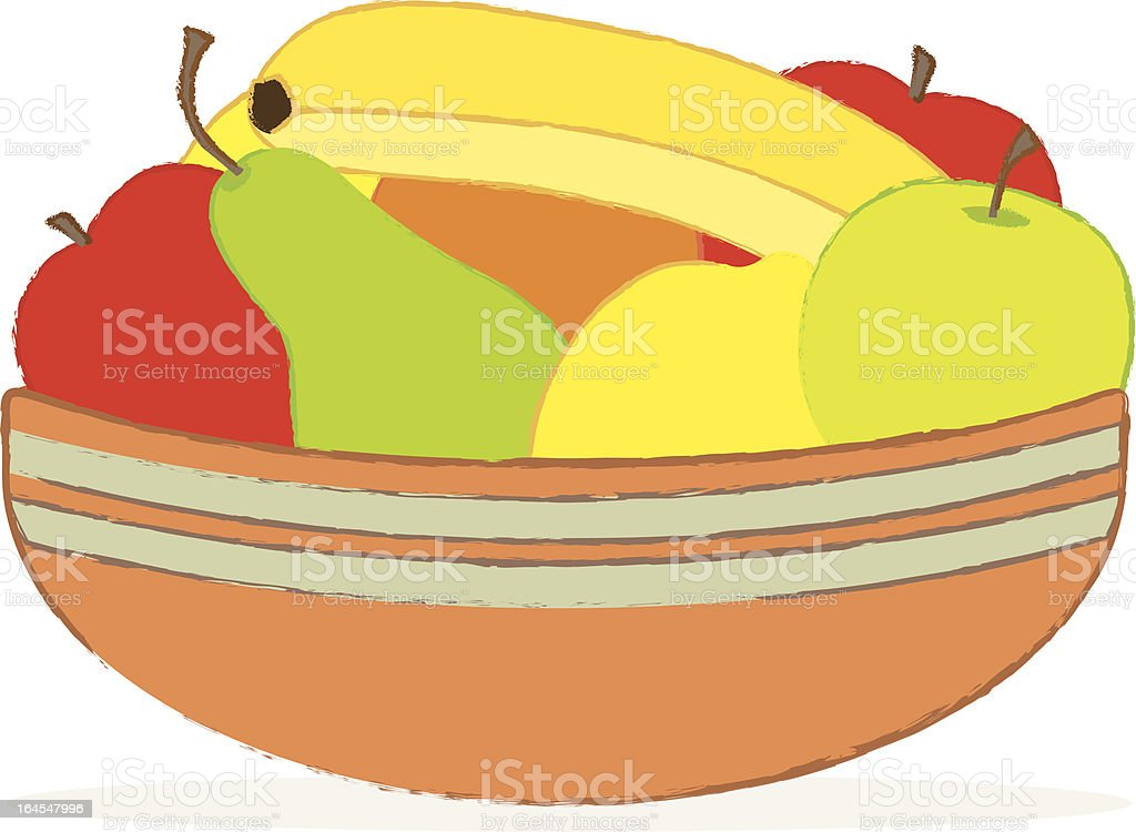 Fruit Bowl vector art illustration