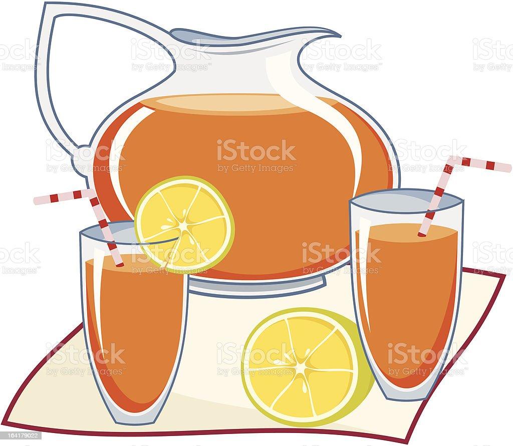 Fruit punch vector art illustration