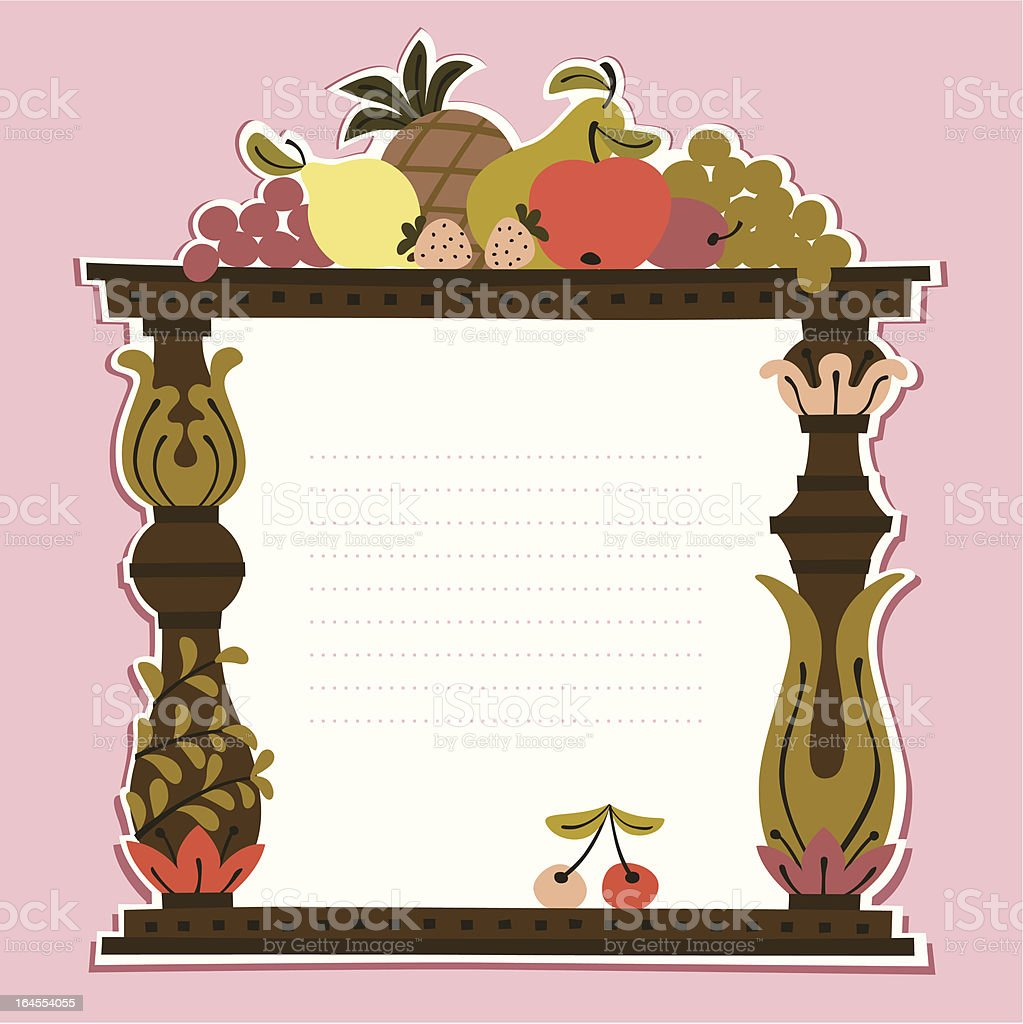 Fruits Frame vector art illustration