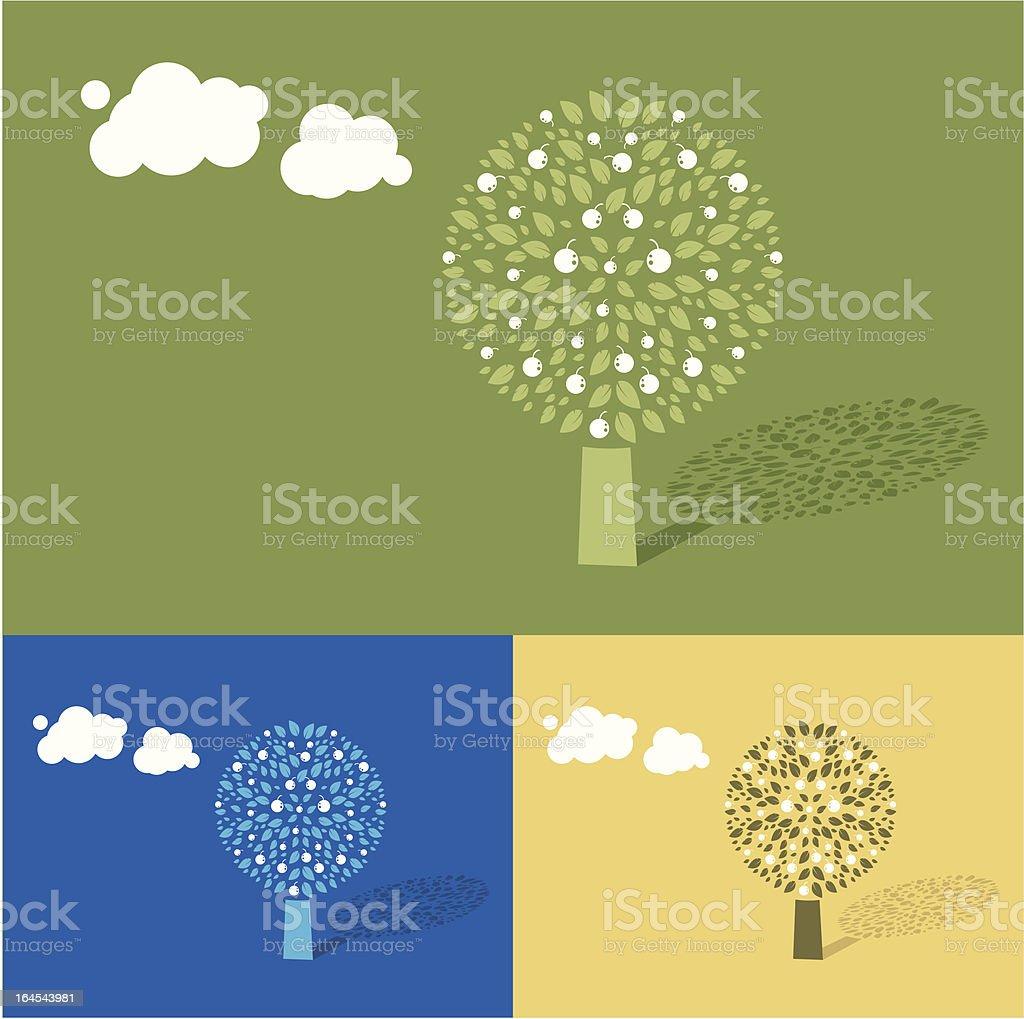 Fruits tree royalty-free stock vector art