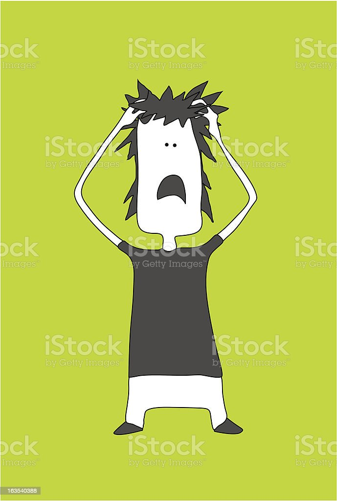 Frustration and despair royalty-free stock vector art