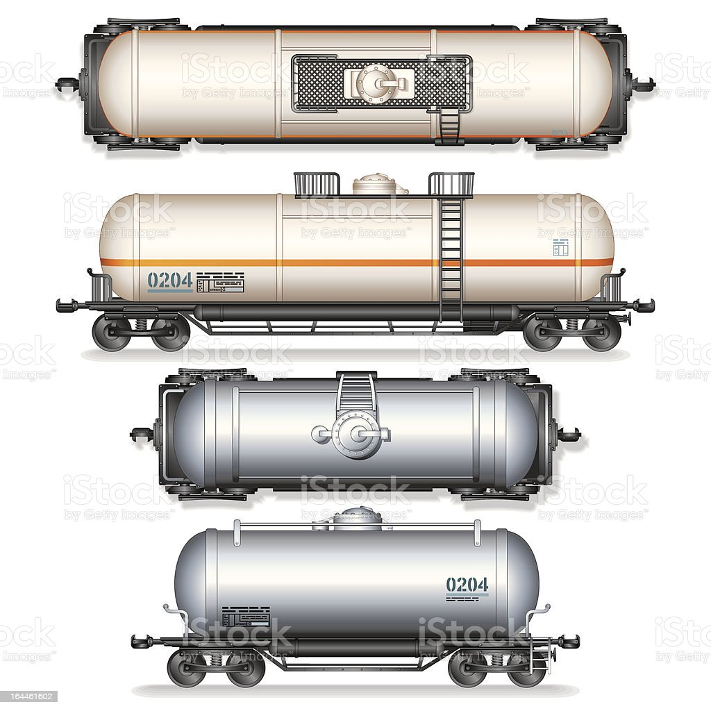 Fuel and Gas Tanks vector art illustration
