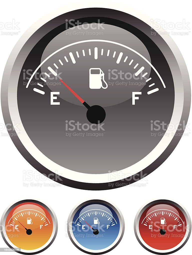 Fuel gauge icons royalty-free stock vector art