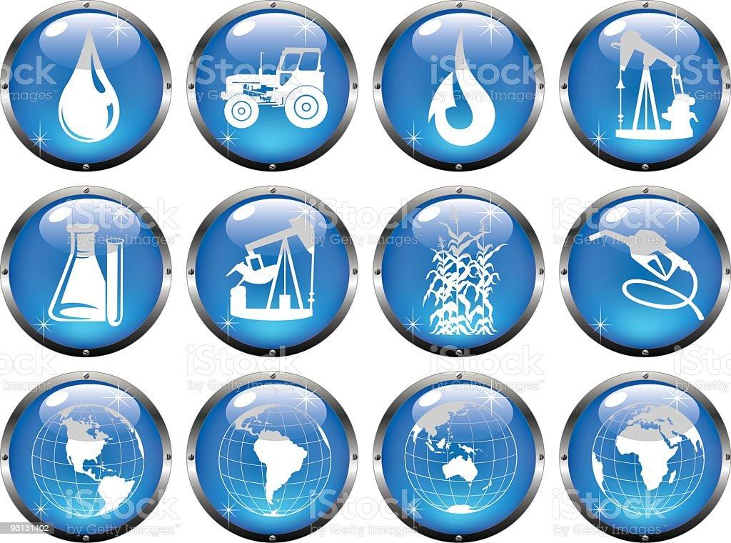 Fuel Industry Icons Illustration vector art illustration