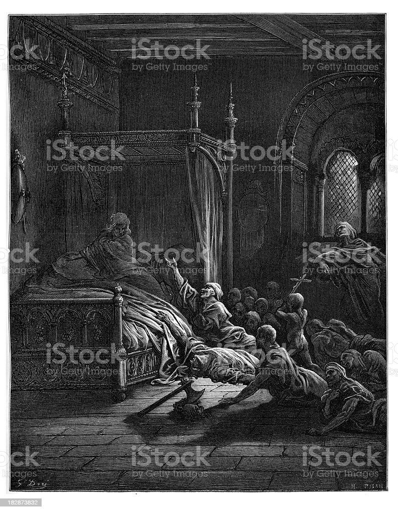 Fulk III, Count of Anjou vector art illustration