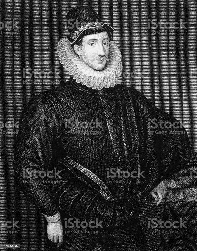 Fulke Greville, 1st Baron Brooke royalty-free stock vector art