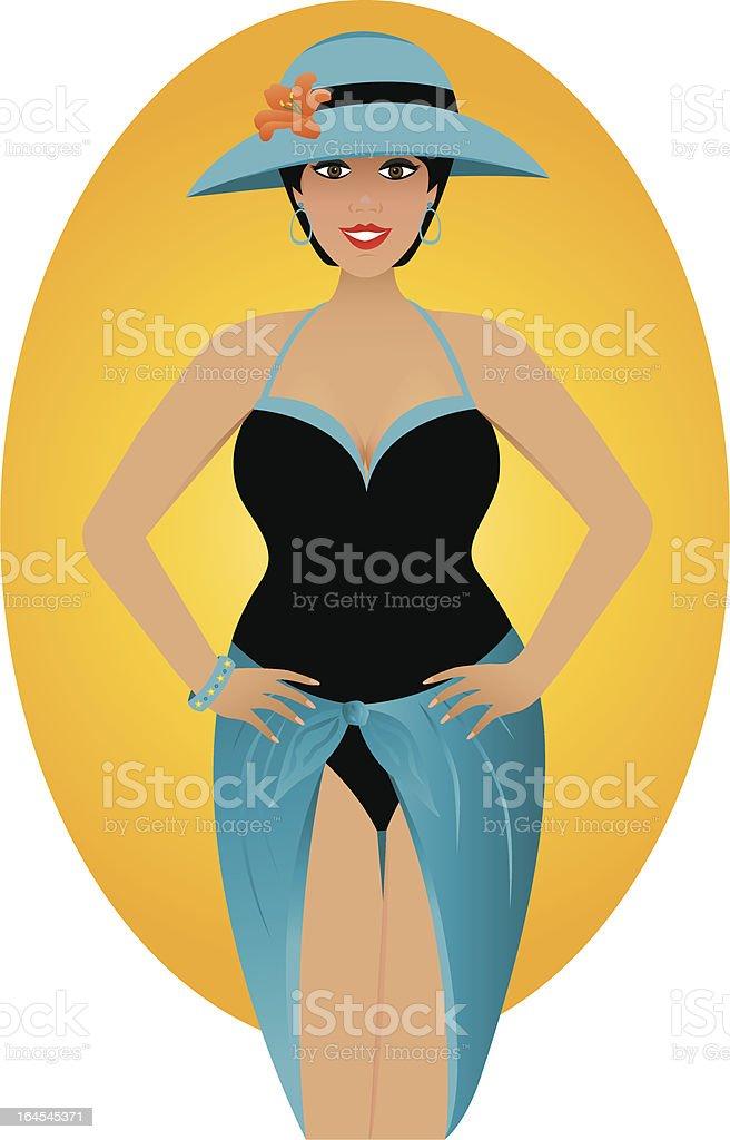 Full Figure Beauty royalty-free stock vector art