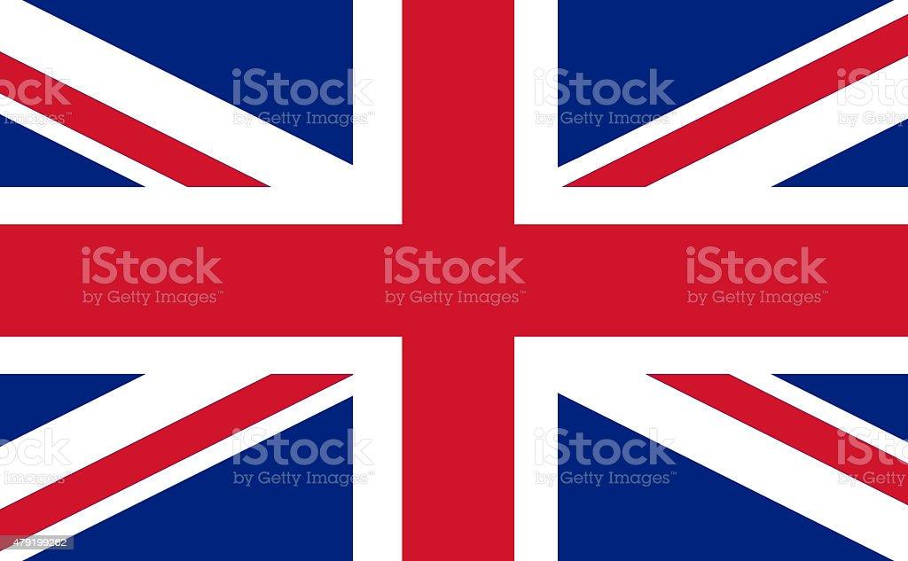 Full frame image of England flag vector art illustration