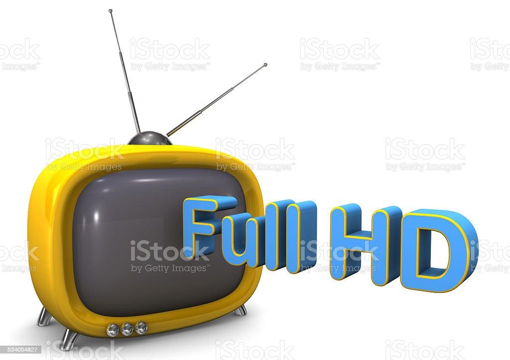Full HD TV vector art illustration