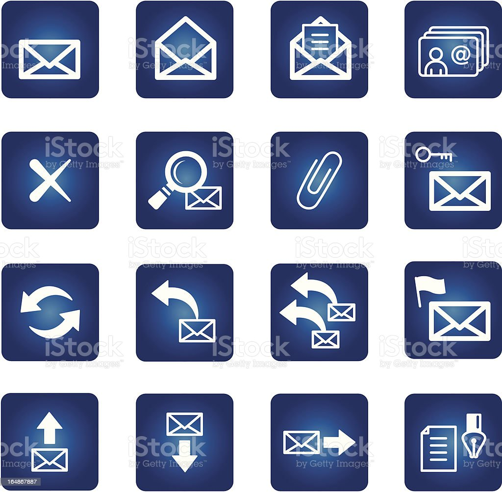 full set of icons for web-mail service royalty-free stock vector art