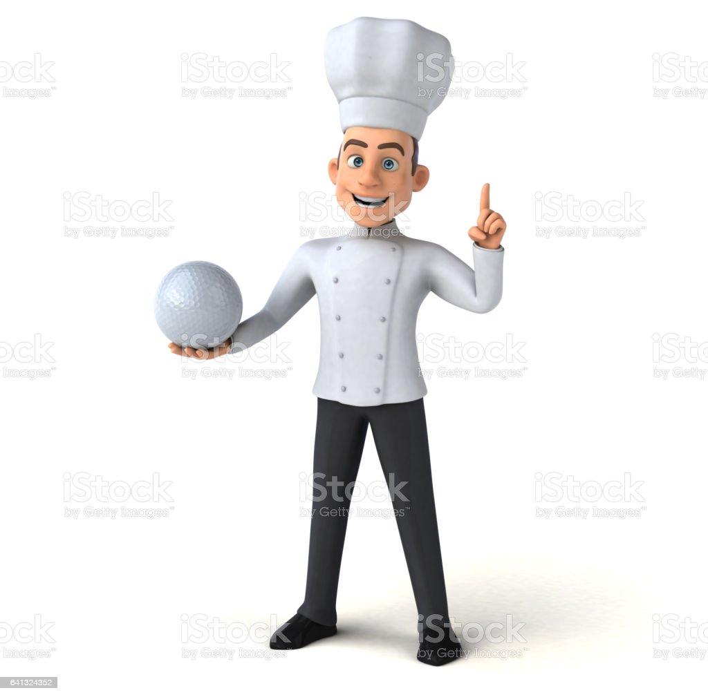 Fun chef vector art illustration