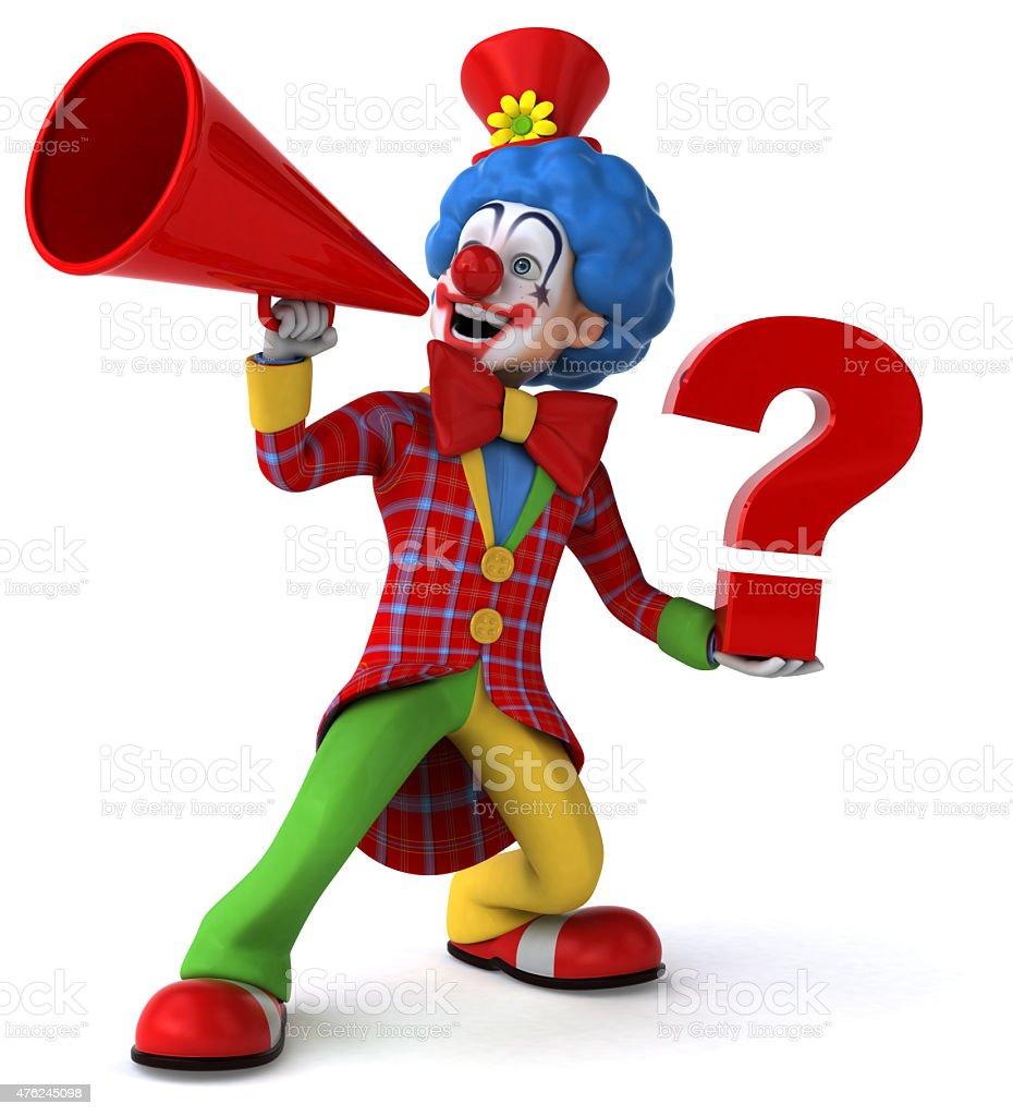 Fun clown vector art illustration