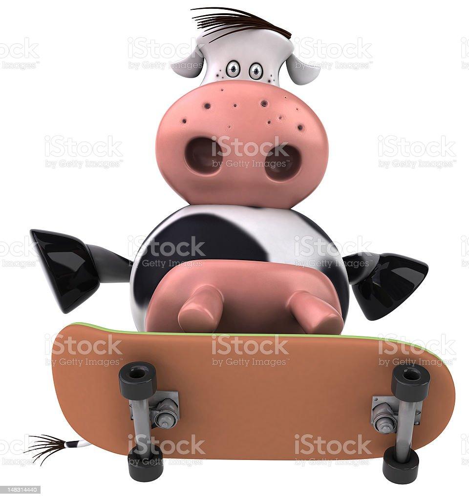 Fun cow royalty-free stock vector art