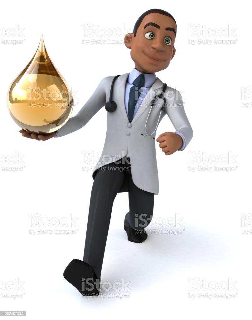 Fun doctor vector art illustration