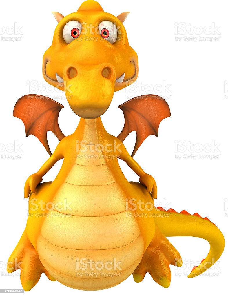 Fun dragon royalty-free stock vector art