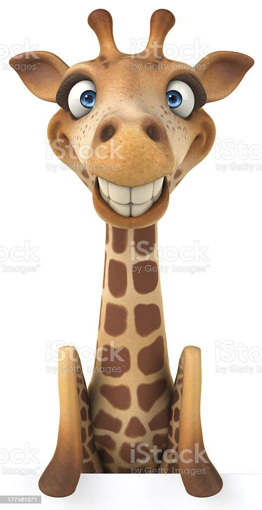 Fun giraffe royalty-free stock vector art