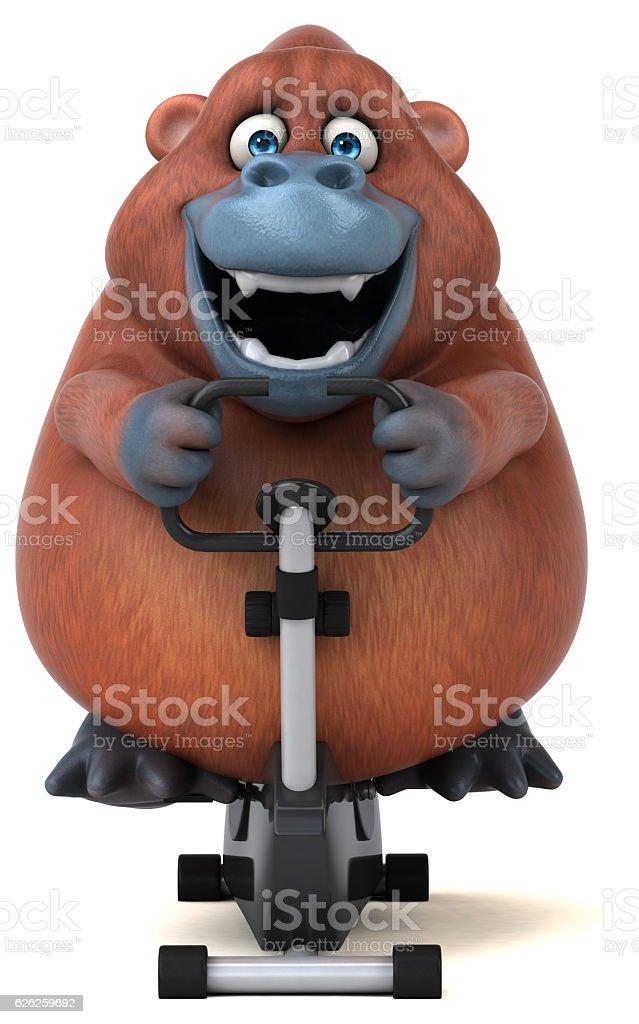 Fun Orangutan - 3D Illustration vector art illustration
