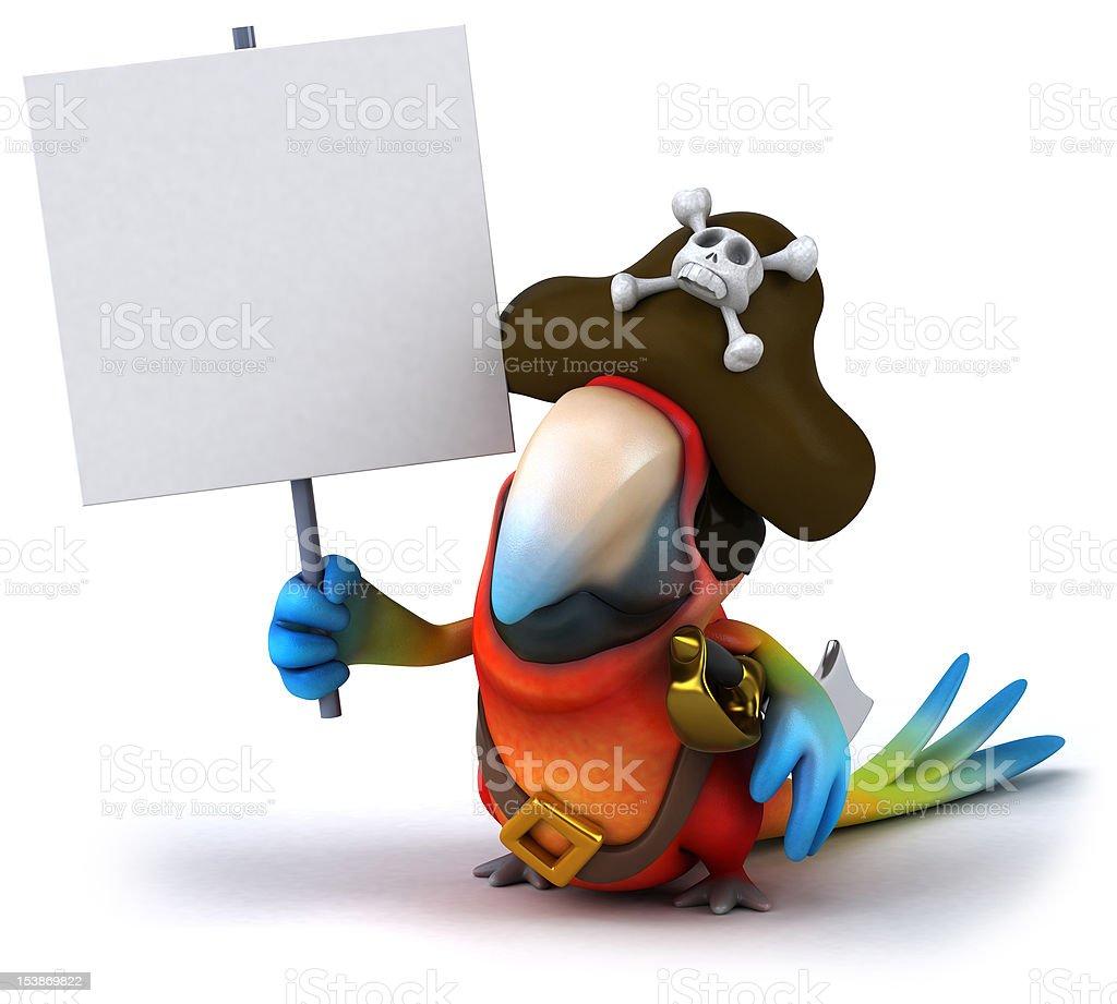 Fun parrot pirate royalty-free stock vector art