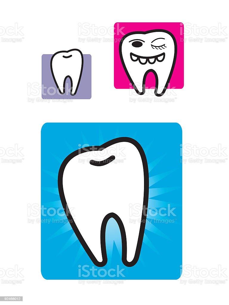 fun teeth vector art illustration