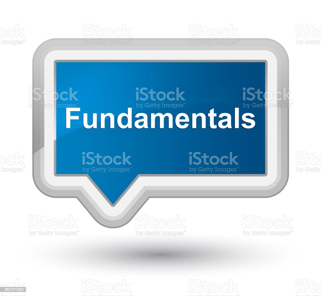 Fundamentals prime blue banner button vector art illustration