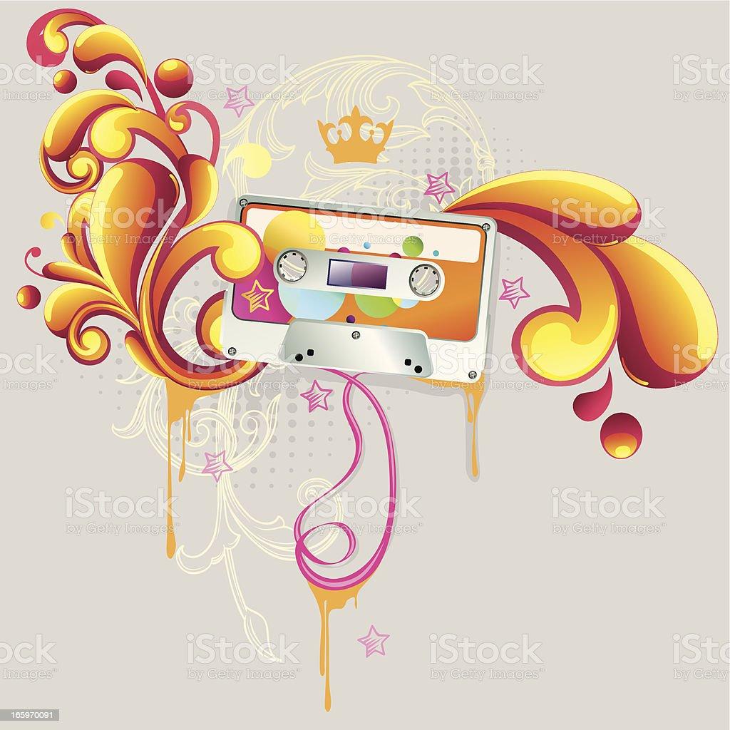 Funky audio royalty-free stock vector art