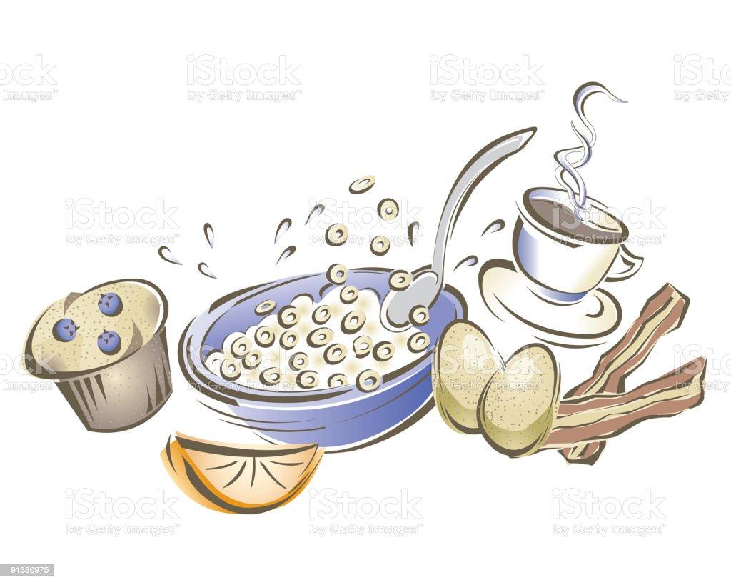 Funky Breakfast vector art illustration