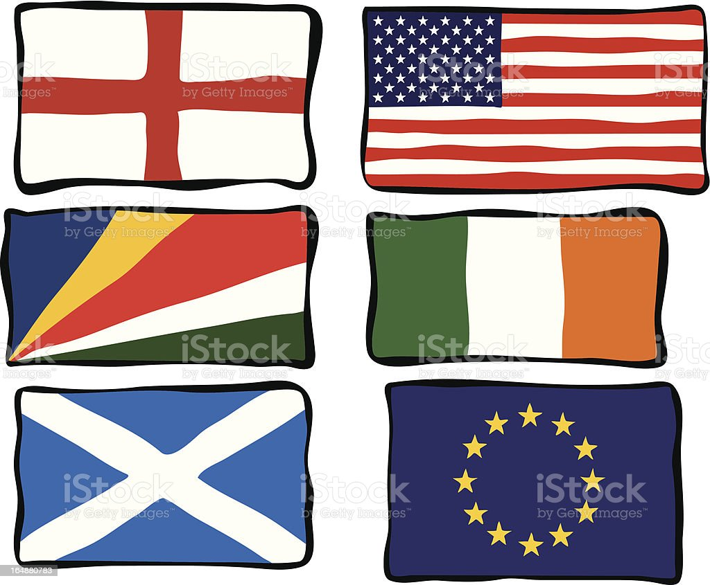 Funky Flags royalty-free stock vector art