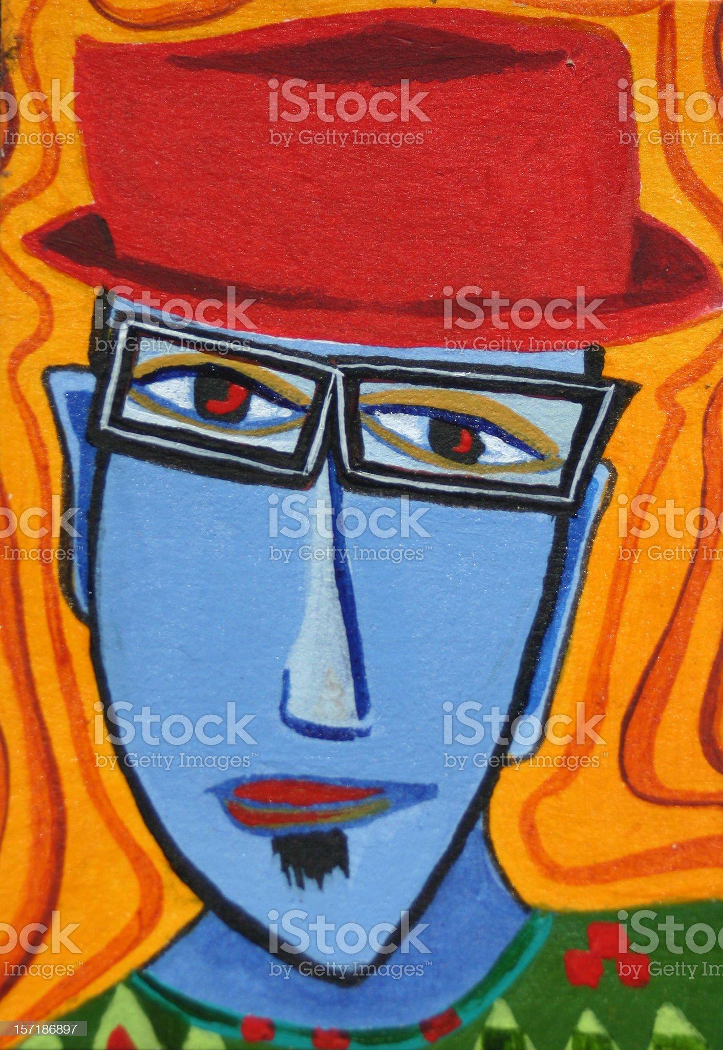 Funky Jazz guy royalty-free stock vector art
