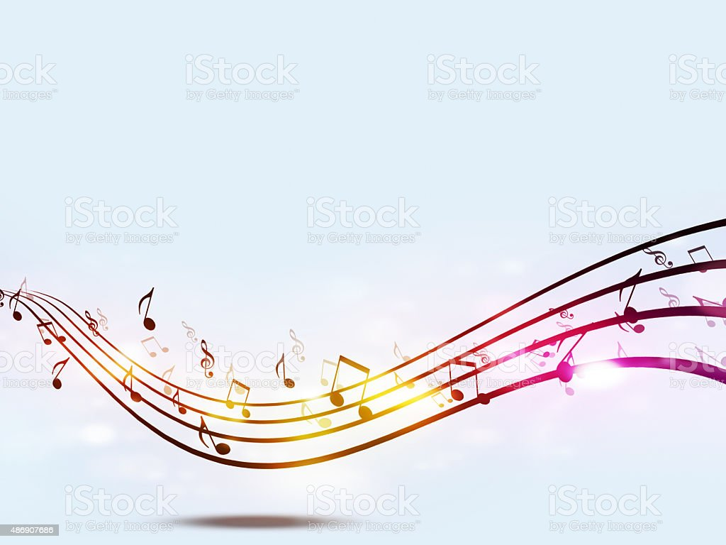 Funky Music Notes vector art illustration