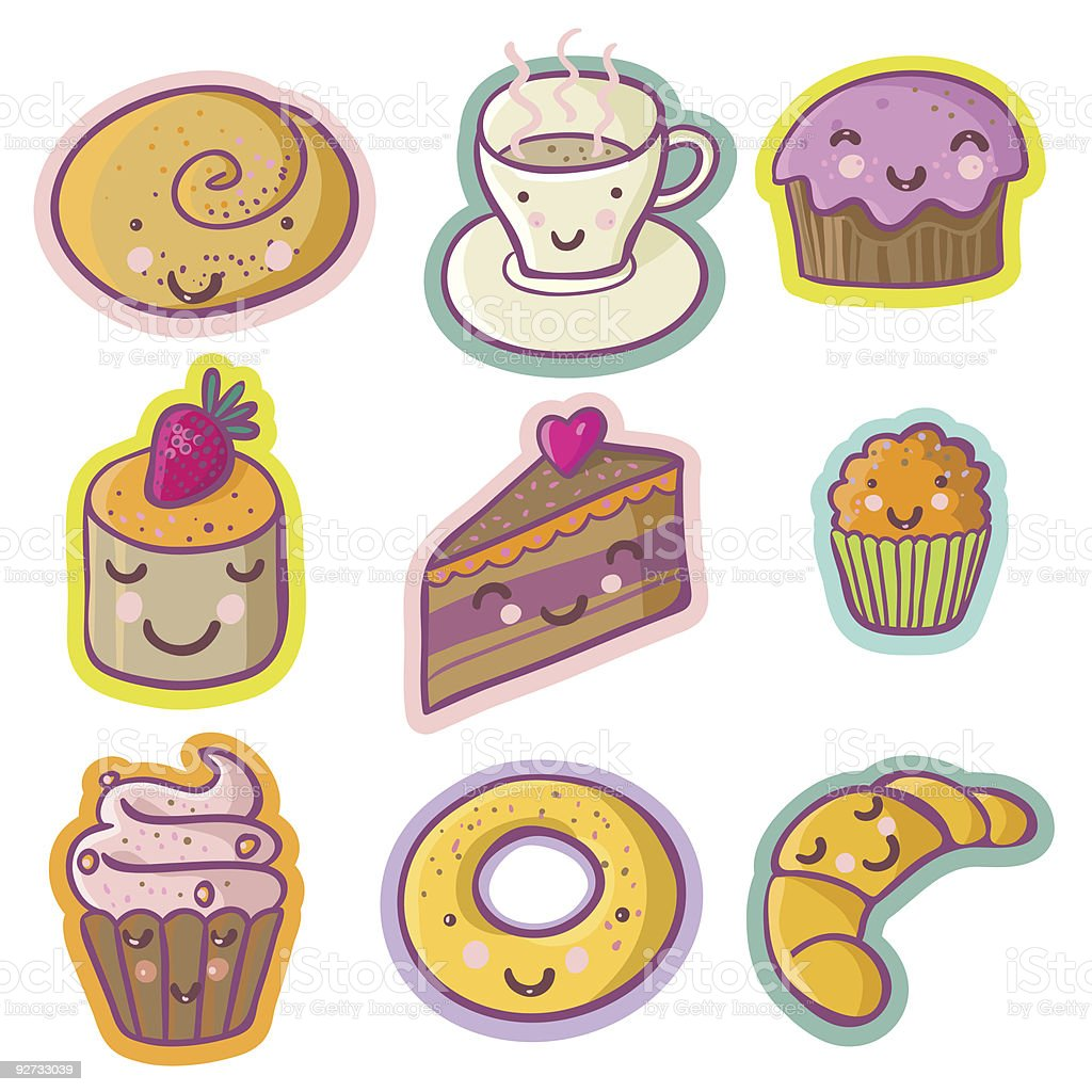Funny cakes royalty-free stock vector art