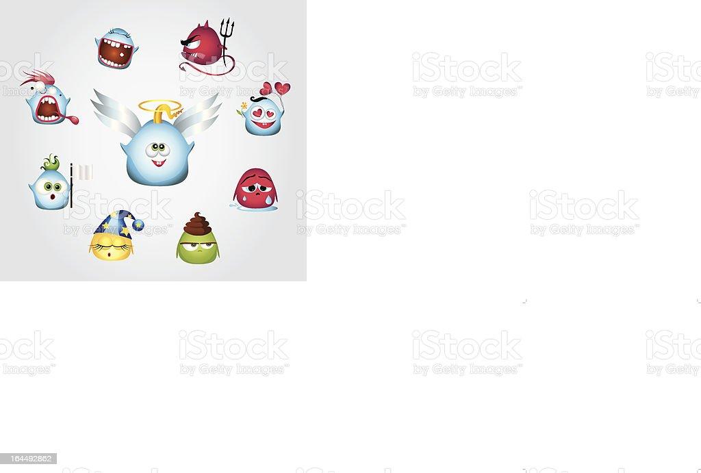 Funny emoticones royalty-free stock vector art