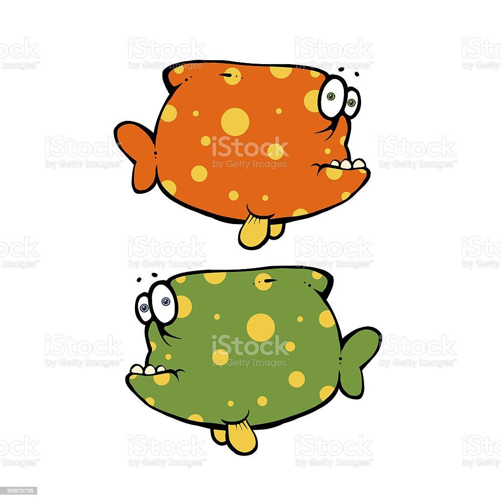 Funny fish royalty-free stock vector art