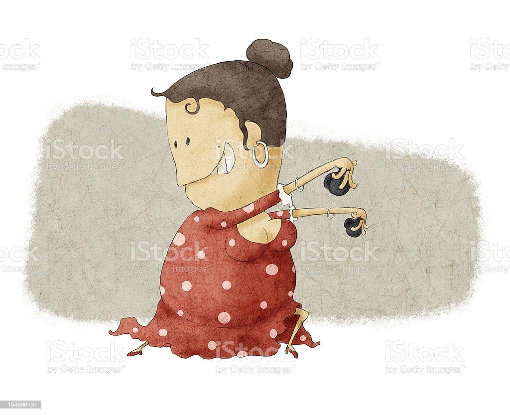 funny flamenco dancing royalty-free stock vector art