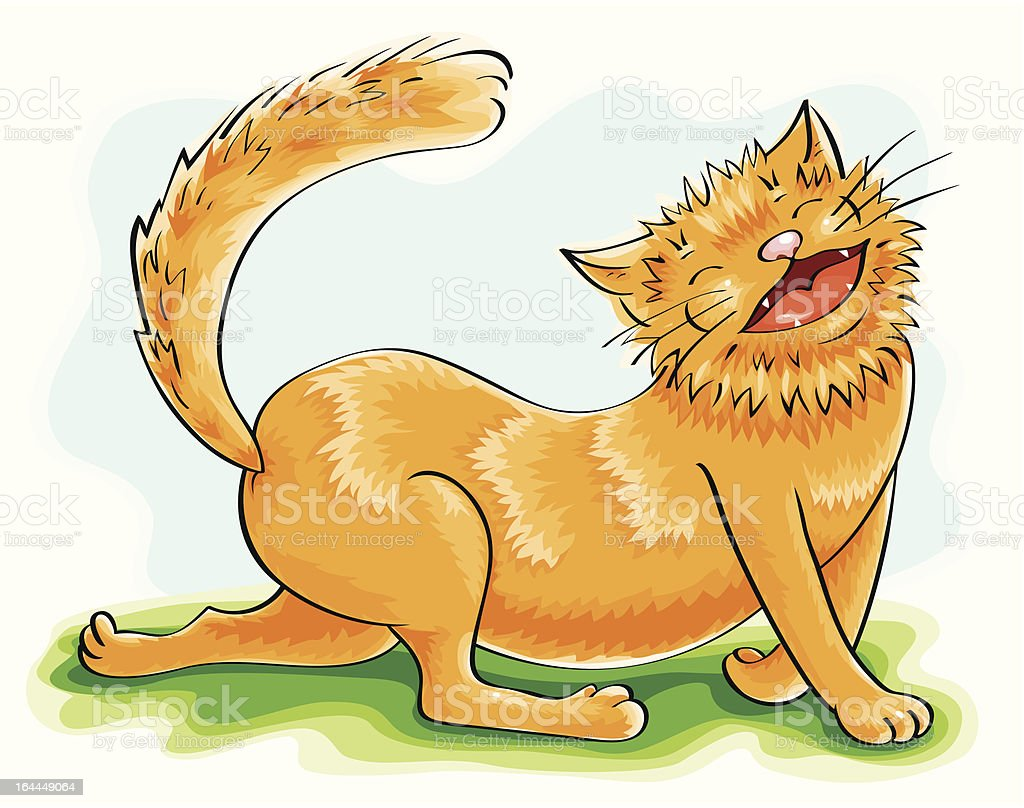 funny ginger cat royalty-free stock vector art