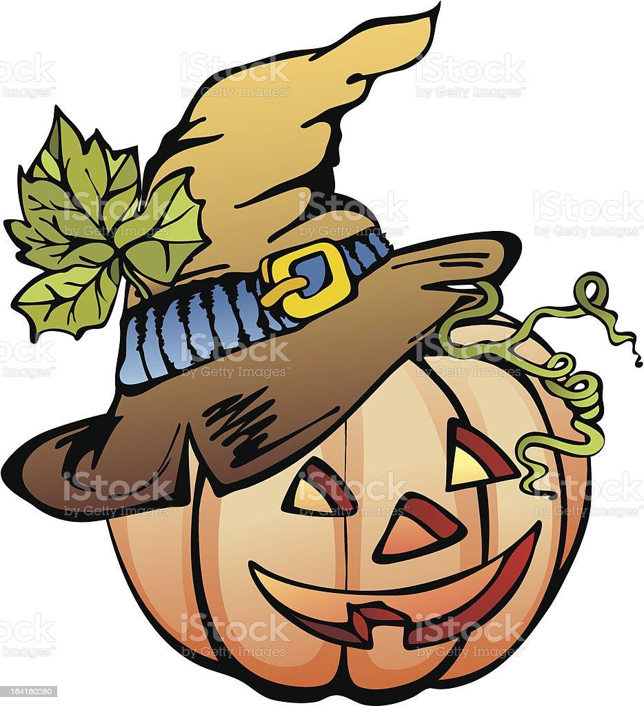 funny Halloween pumpkin royalty-free stock vector art