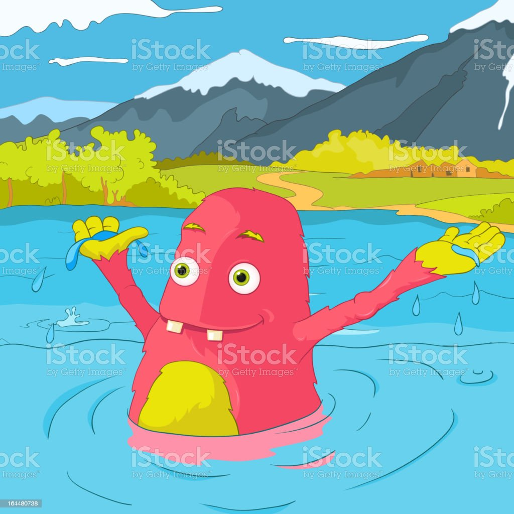Funny Monster. royalty-free stock vector art