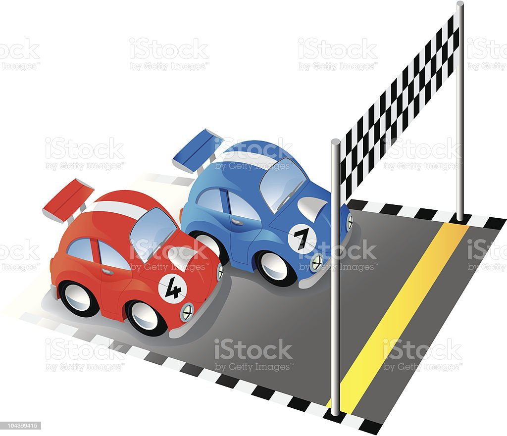 Funny race cars royalty-free stock vector art
