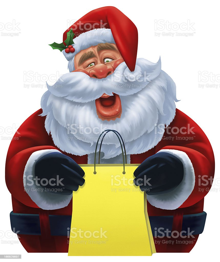 funny santa claus royalty-free stock vector art