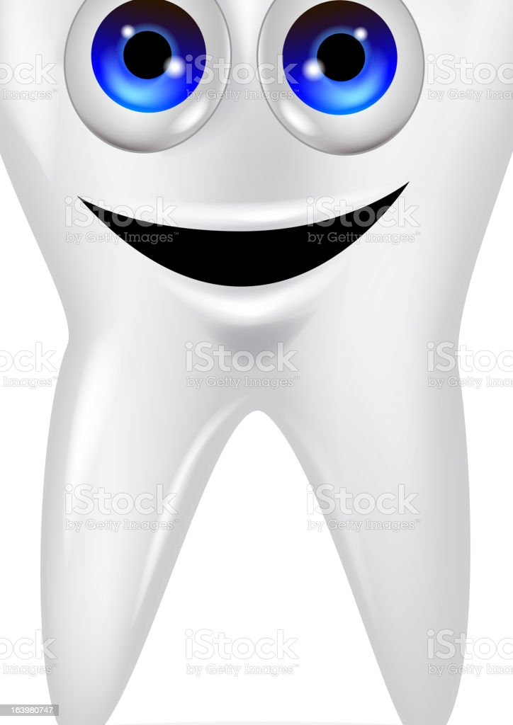 Funny tooth cartoon character royalty-free stock vector art