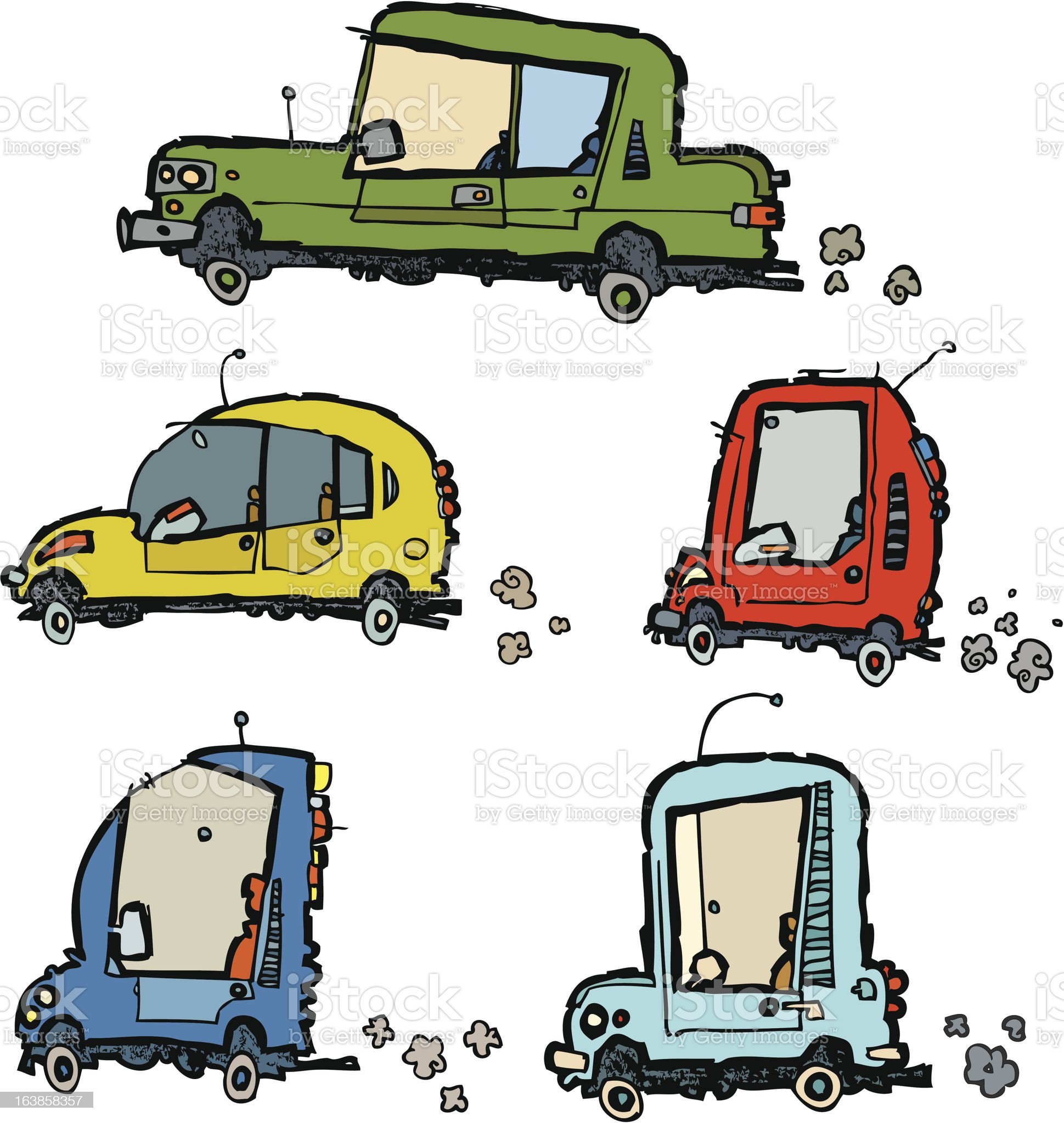 funny vector cars royalty-free stock vector art