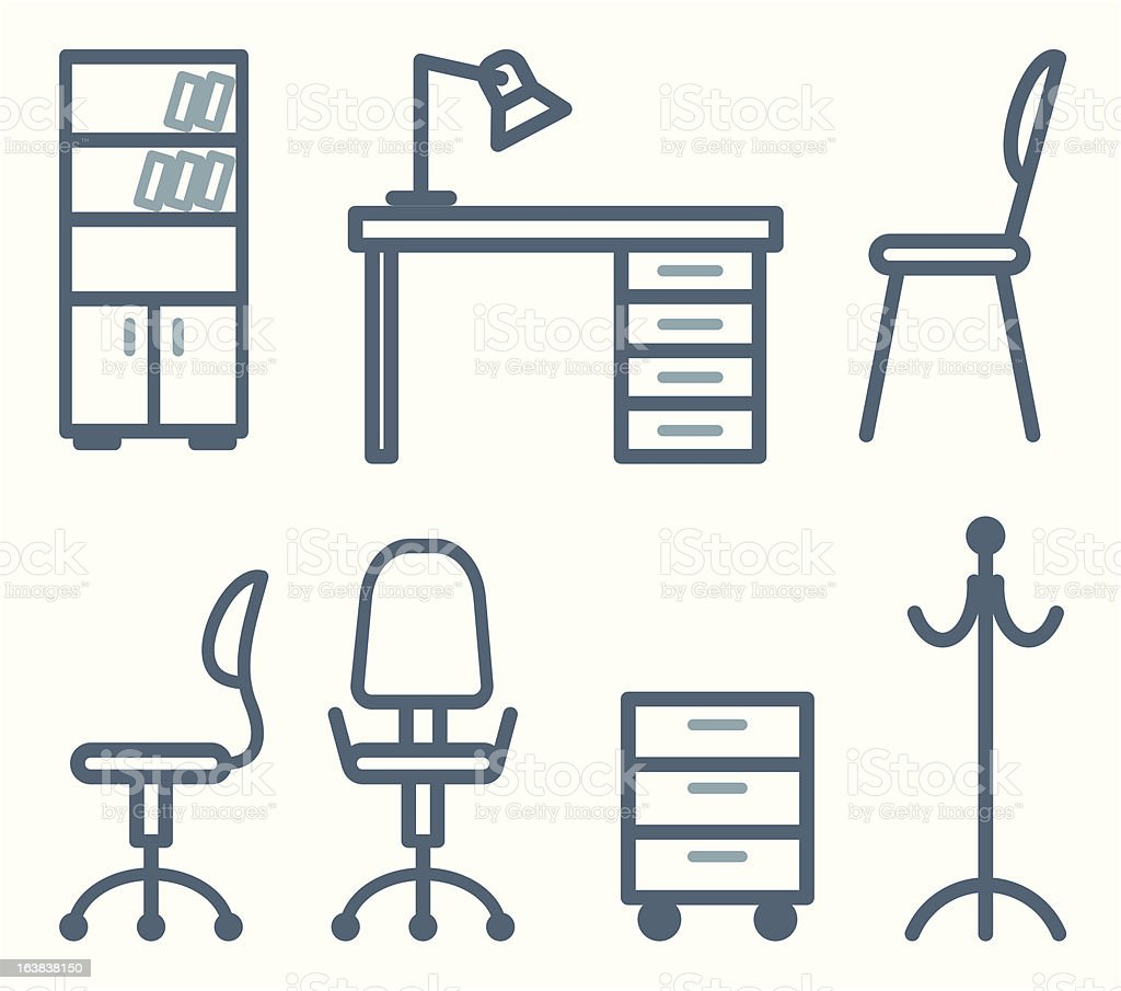 Furniture for office royalty-free stock vector art